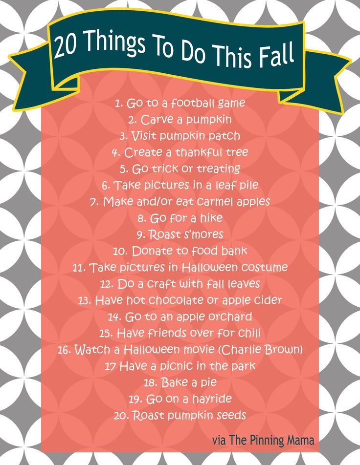 adult activities for the fall