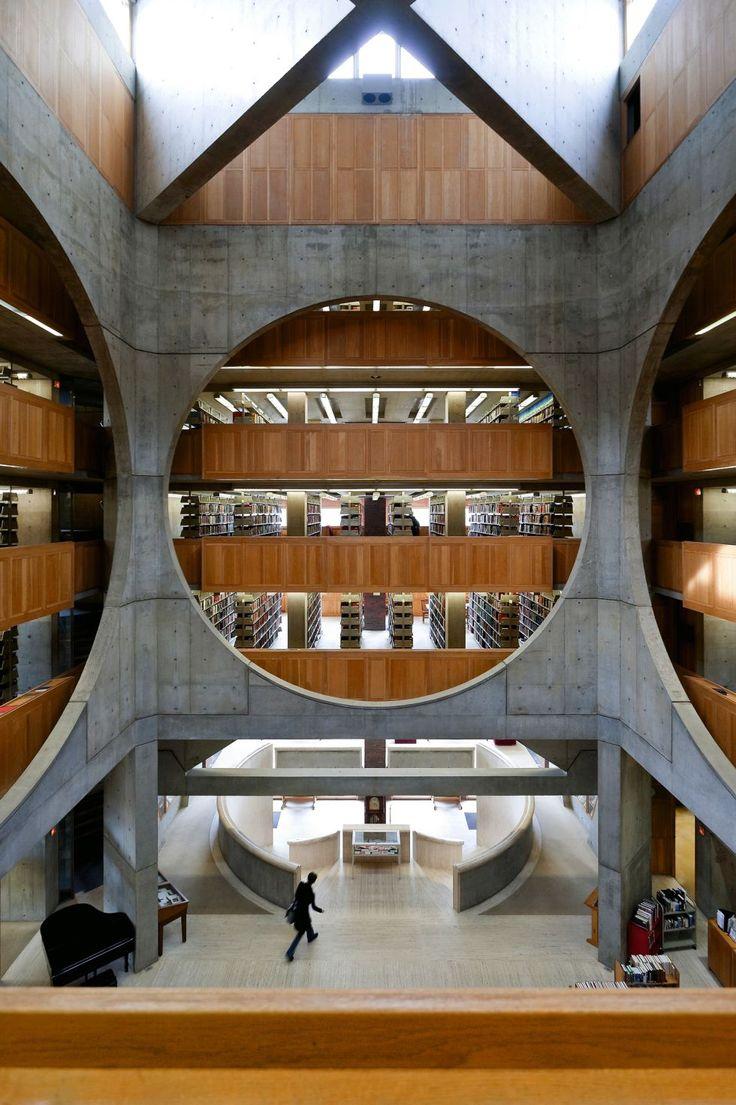Kahn | La biblioteca de la Academia Phillips Exeter, en New Hampshire (Estados Unidos). | Foto: Iwan Baan