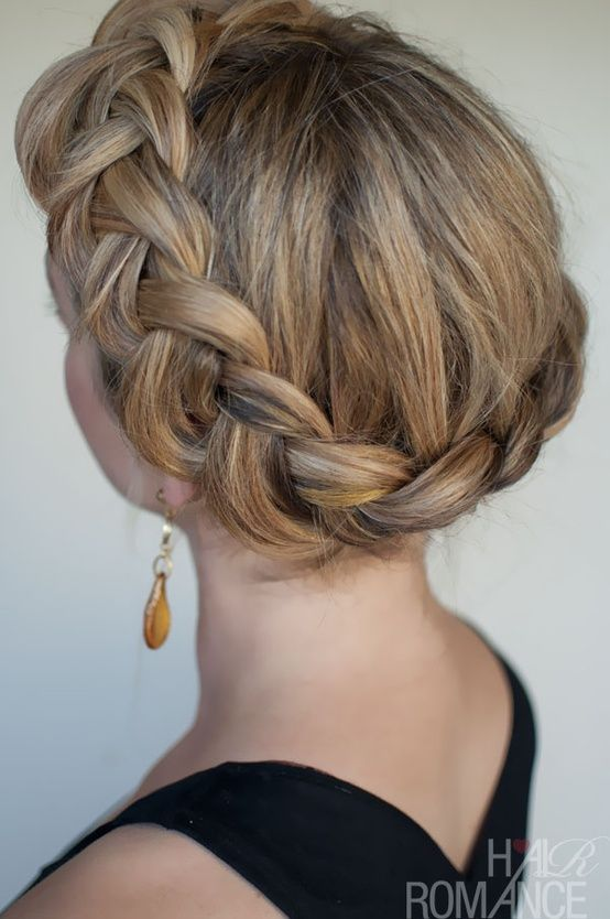 This kind of braid can really accentuate a round head in a really cute way.