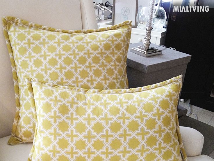 Mialiving moroccan pattern yellow olive pillows #MIALIVING #pillows #moroccan #pattern  Photo was taken in @华华 GREY New York Style Interiors Warsaw