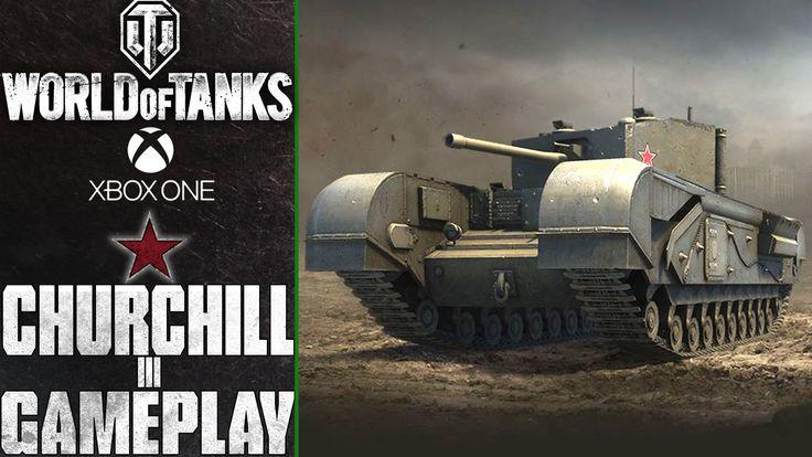 World of Tanks Xbox One: Churchill III | Map:Cliff - Rain | Gameplay