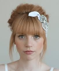 Bridal hair- full fringe up do