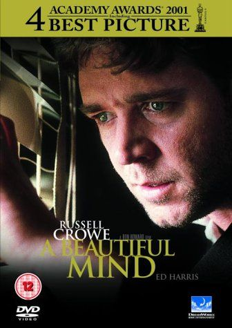 "A Beautiful Mind (2002) directed by Ron Howard, starring Russell Crowe, Ed Harris, Jennifer Connelly, Christopher Plummer and Paul Bettany. ""After a brilliant but asocial mathematician accepts secret work in cryptography, his life takes a turn to the nightmarish."""