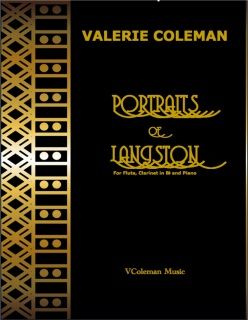 Portraits of Langston is a 6 movement 'tour de force' with optional narrator, and is based on the poems of Langston Hughes, his experiences in Paris and Harlem. For the best impact, it is recommended (but not necessary) to perform it with narrator, reading selected Langston Hughes' poems.  Duration: 16 minutes without narrator, est. 22 minutes with narrator.