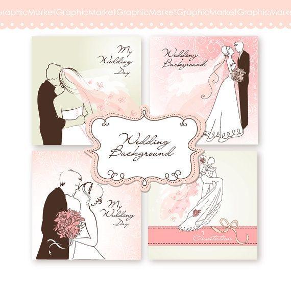 Wedding Digital Clip Art Card II - Luvly Marketplace | Premium Design Resources #cards #digitalcards