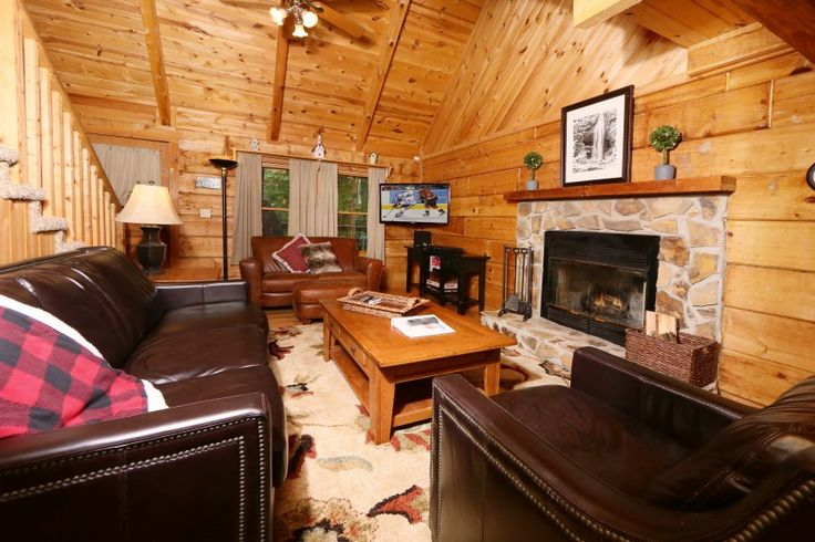 Braden's Clearance:  All Leather seating featured in this Smoky Mountain Rental Cabin were purchased at Braden's Warehouse & Clearance Center!  See more great options at 119 Airbag Way, Maryville, TN  37801.
