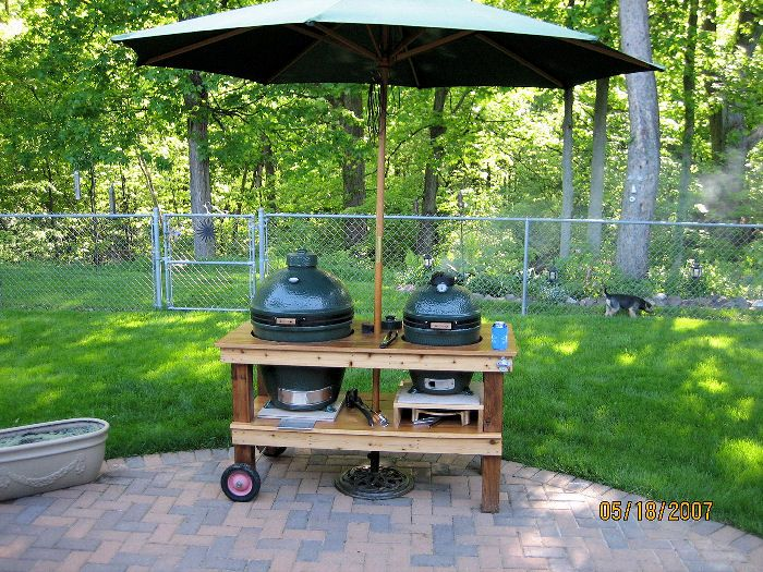 Ceramic Cooker Table Gallery -- The Naked Whiz's Ceramic Charcoal Cooking