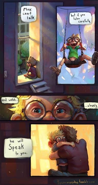 ~ Tyson Murphy  A wonderful comic about non-verbal communication. #Autism #A2A