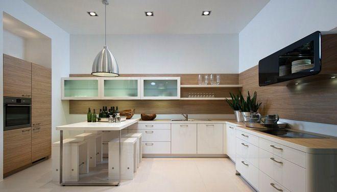 Nolte witte keuken met houtaccenten maar dan met een dik for Cuisine nolte