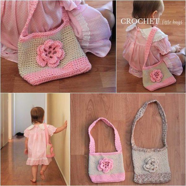 crochet-little-kids-handbag-with-free-pattern #diy #crafts #crochet pattern