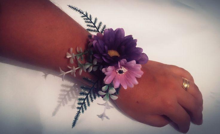 Corsage o pulsera de flores artificiales para madrinas de bodas