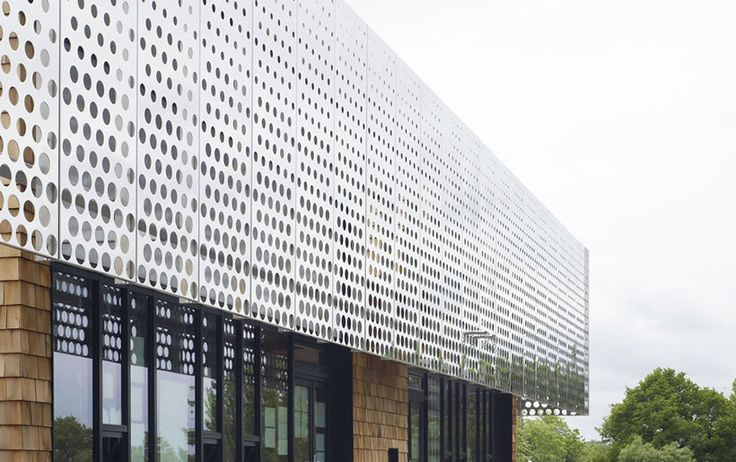 Architectural Perforated Metal Panels : Kme architectural perforated metal cladding ideas for