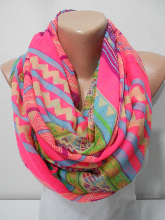 Scarf Pareo Neon Pink Summer Scarf Spring Scarf Bohemian Women Fashion Fashion Scarf Mother's Love