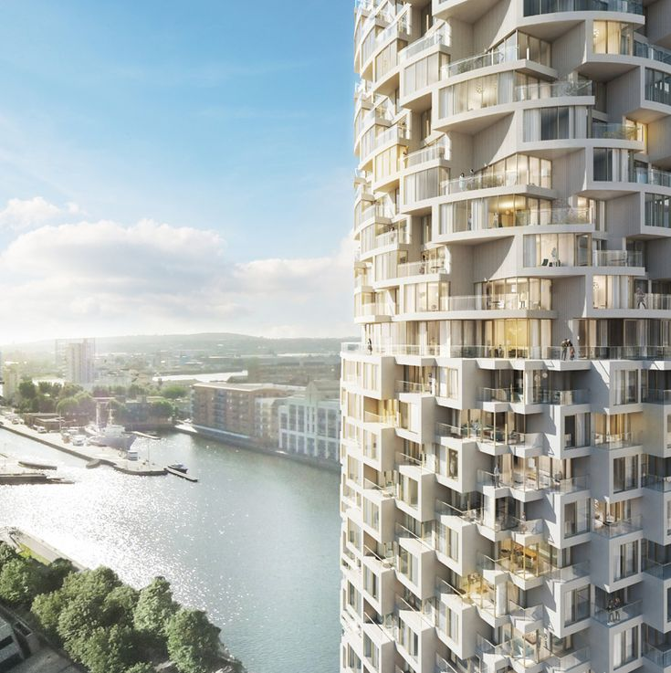 herzog & de meuron design residential tower for canary wharf #tower #architecture