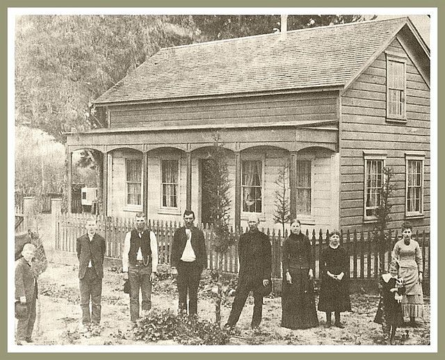 The Lillie Hungerford Brown House was built in Norwalk, CA in 1883
