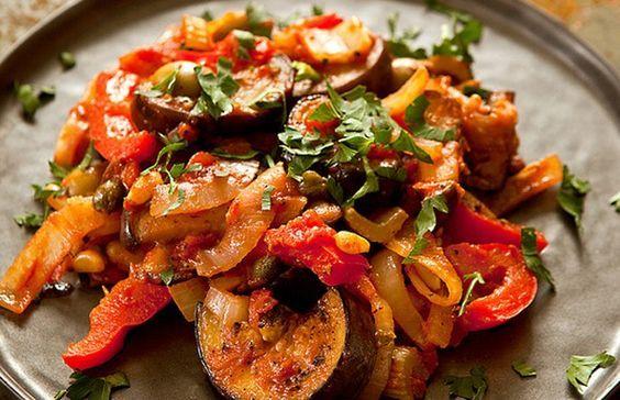 Zonnig groentegerecht: Siciliaanse caponata (min de selder)