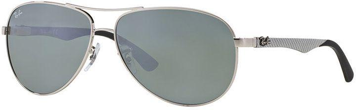 Ray-Ban Carbon Fibre Sunglasses, RB8313 61