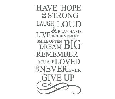 naklejka HAVE HOPE w 4walls na DaWanda.com