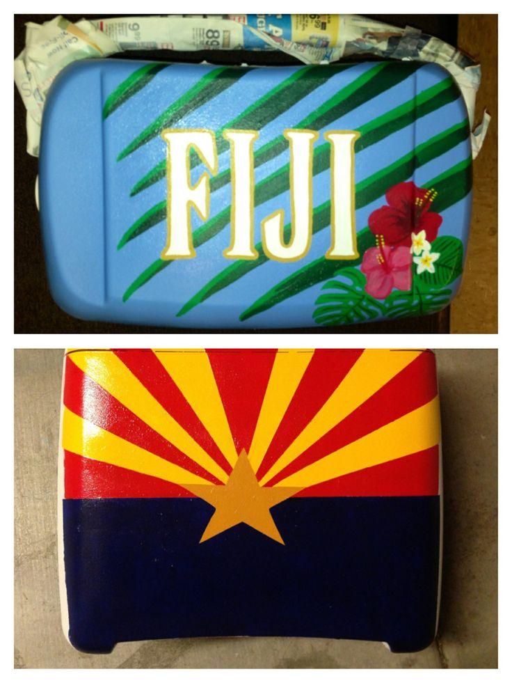 Cooler I've been crafting for Fiji Islander formal! 247greek.com