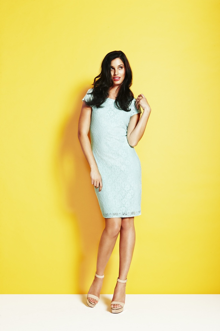 Rockmans: Lace Dress #mint $69.99