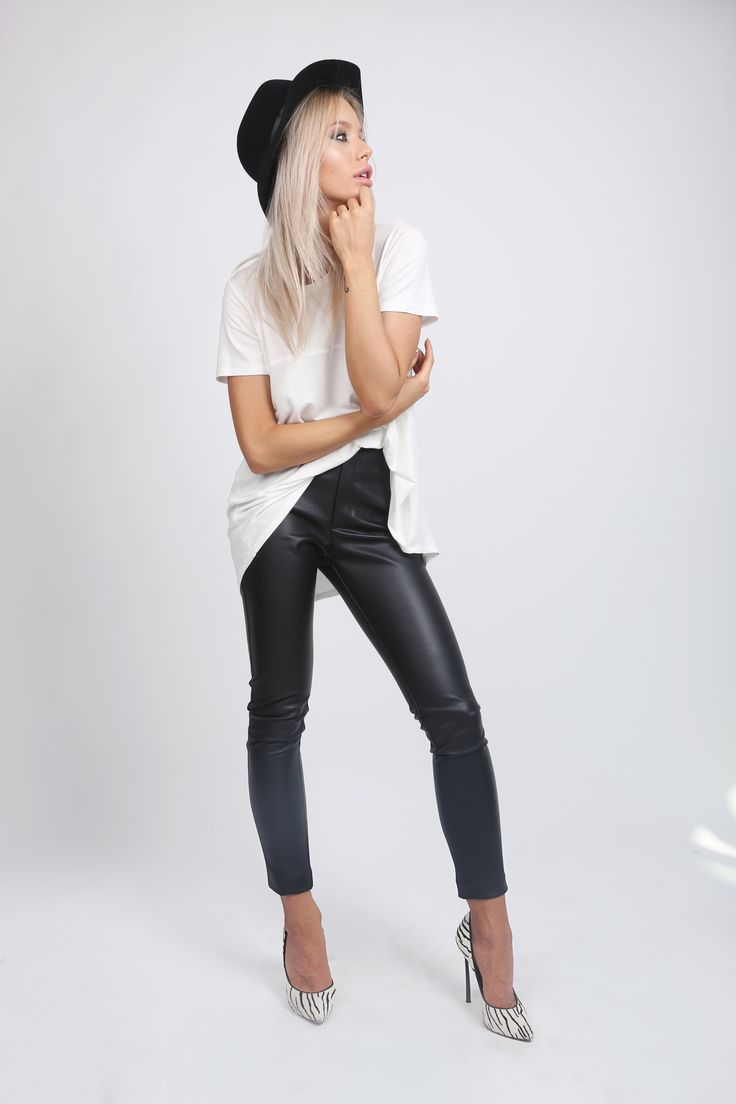 Cigarette Eco Leather PAnts! http://www.noire.ro/product/cigarette-leather-pants/