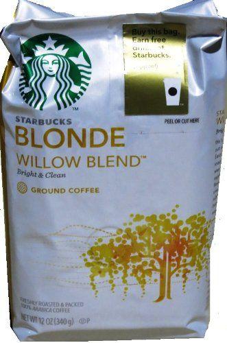 Starbucks Coffee Blonde Roast, Willow Blend, Ground, 12 oz - http://teacoffeestore.com/starbucks-coffee-blonde-roast-willow-blend-ground-12-oz/