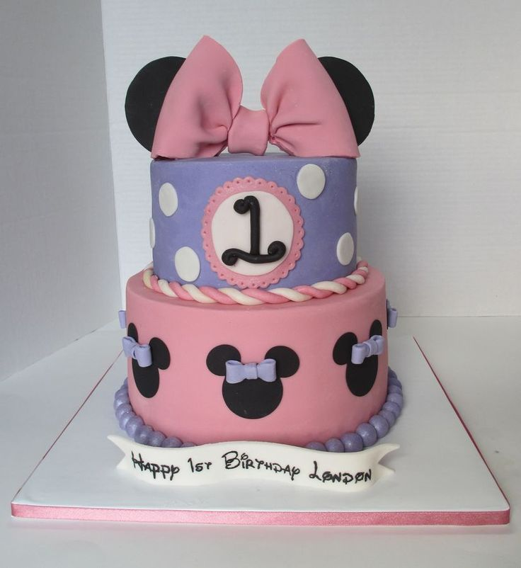 This Minnie Mouse 1st birthday cake was an Icing Smiles cake for 1 ...