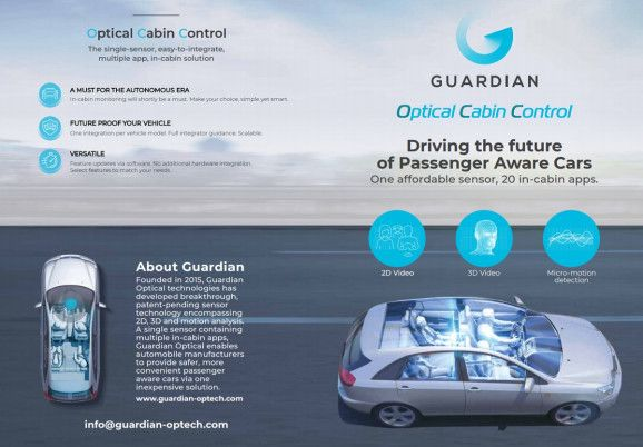 Guardian Optical Technologies Creates Passenger Aware Car Cabins Passenger Awareness Optical