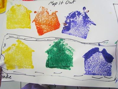 Making our own maps in preschool - this would be fun to have the children tell you directions to get to their house also