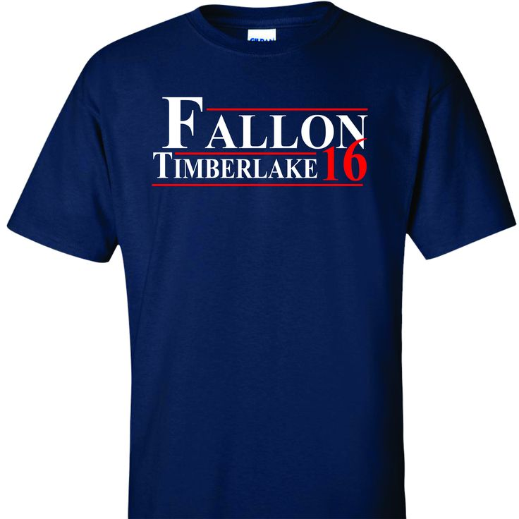 Fallon Timberlake for President 2016 on Navy Short Sleeve T Shirt