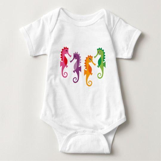 SeaLife10png Baby Bodysuit