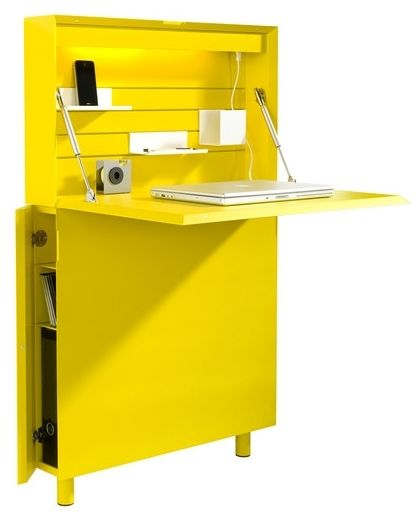 Werkplek voor je tablet geel