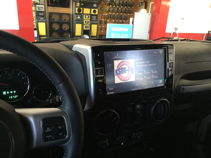 """Al & Ed's Autosound in Escondido, Ca showing off a beautiful install with this Alpine X009-WRA In Dash 9"""" GPS Touch Display with SXM and a factory location Back Up Camera in a 2016 Wrangler Unlimited Oscar Mike Edition.... #alneds #ae #alnedsautosound #aeeventcoordinator #aestreetteam #teamae #aeescondido #alpine #restyle #customdash #sxm #backupcam #gps #touchdisplay #12voltnews #12vtools #caraudio411 #carporn #caraudioexperts…"""