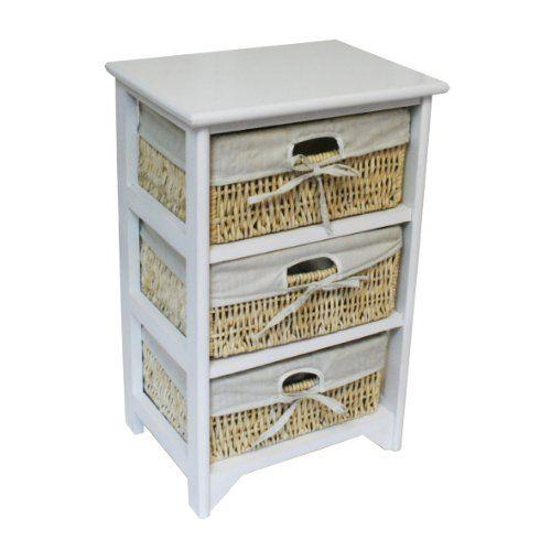 3 drawer white wood storage cabinet 3