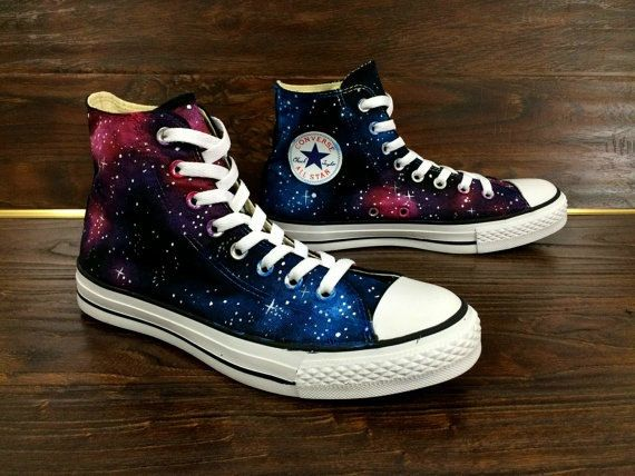 Galaxy Converse Sneakers Custom Painted Galaxy Converse Shoes by MasalShoesShop on Etsy www.etsy.com/...