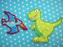 Aufnäher Dino, Aufnäher Schultüten Set 1