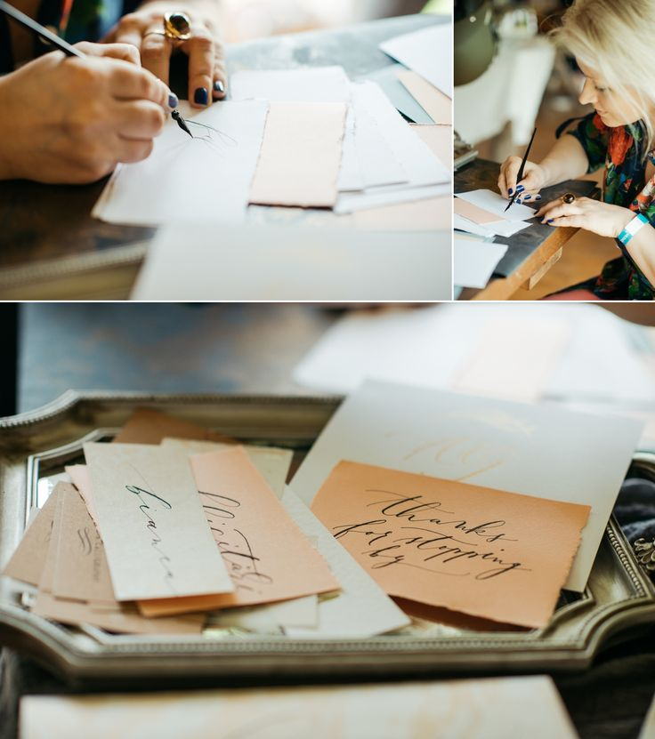 calligrapher @ The Wedding Market 2017 – #charminkcalligraphy, photo by Ioan Stoica