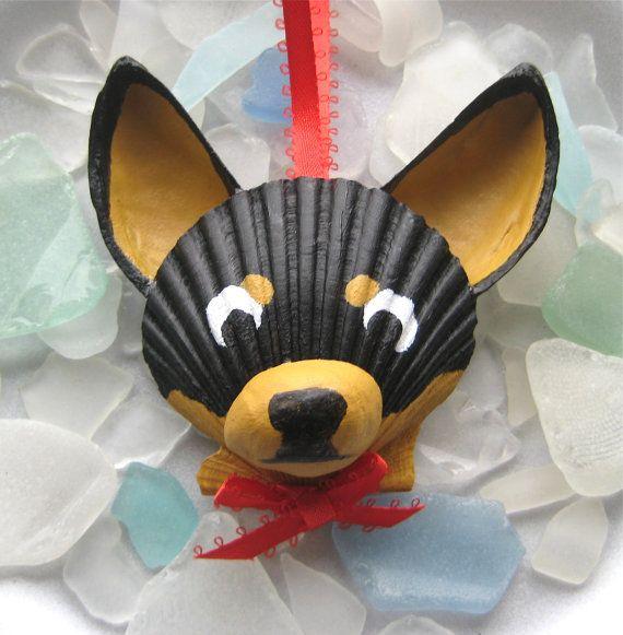 Chihuahua Ornament by Lorishellart on Etsy, $8.00