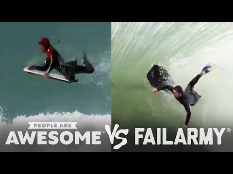 People Are Awesome vs. FailArmy: Body Surfing, Skiing, Weightlifting & More! - YouTube