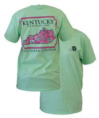 Southern Couture Kentucky Preppy Paisley State Pattern Bluegrass State | SimplyCuteTees