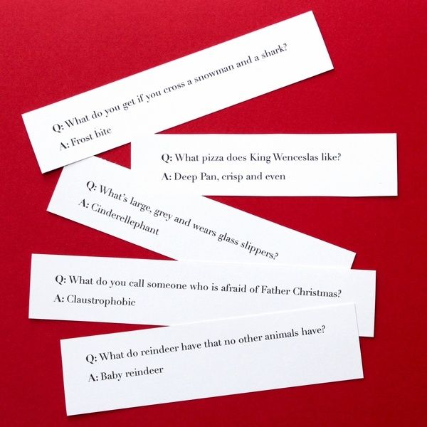 Weird Christmas cracker joke ideas funny questions                                                                                                                                                                                 More