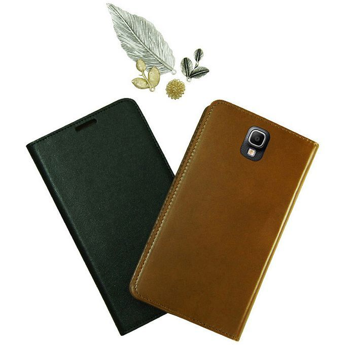 Jacklyn Genuine Cow's Leather Flip Cover for Galaxy Note 3 Neo