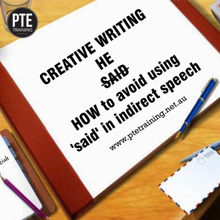https://in.pinterest.com/ #ptetraining #creativewriting #directspeech #correction