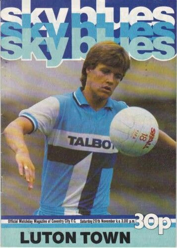 Coventry City 4 Luton Town 2 in Dec 1982 at Highfield Road. The programme cover #Div1