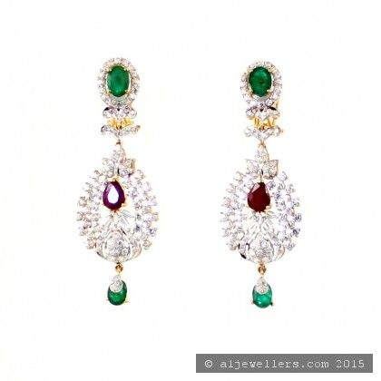22ct Indian Gold Ruby and Emerald Necklace Set ROYAL COLLECTION (1)
