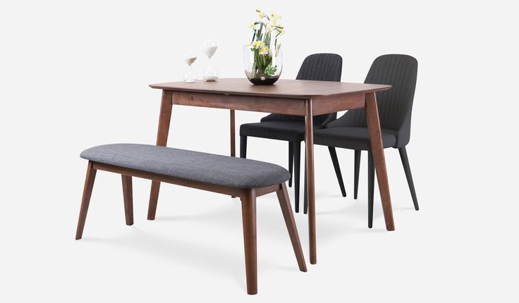 I saw this and fell in love. Mika Extendable Table with Ellyn Bench and 2 Torri Chairs by Castlery.