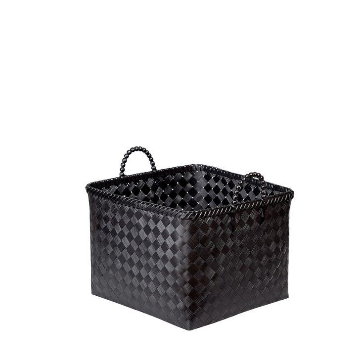 Czarny kosz bambusowy Lea'r #kosz #koszyk #basket #bambus #bamboo #homemade #manufcture #design #rękodzieło #unique #limitededition #amiou #onemarket.pl