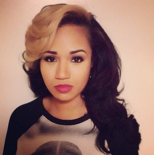 Super 1000 Ideas About Two Toned Hairstyles On Pinterest Short Curly Short Hairstyles For Black Women Fulllsitofus