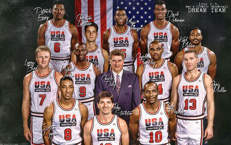 The Dream Team. No dream team will ever match or dominate the Olympics like they did!