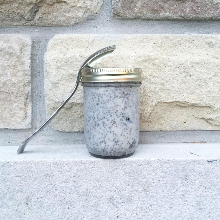 Breakfast on the go  Chia seed pudding - almond milk - chia seeds - vanilla - maple syrup - cinnamon - fresh berries  Mix it all in a mason jar and leave in the fridge overnight to thicken!  What's your go to breakfast?